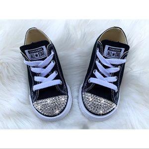 ⚡️Custom Bling Toddler Converse Shoes⚡️